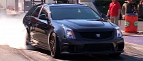 This 10-second Cadillac CTS-V Wagon Ain't No Fancy Grocery Getter [Video]