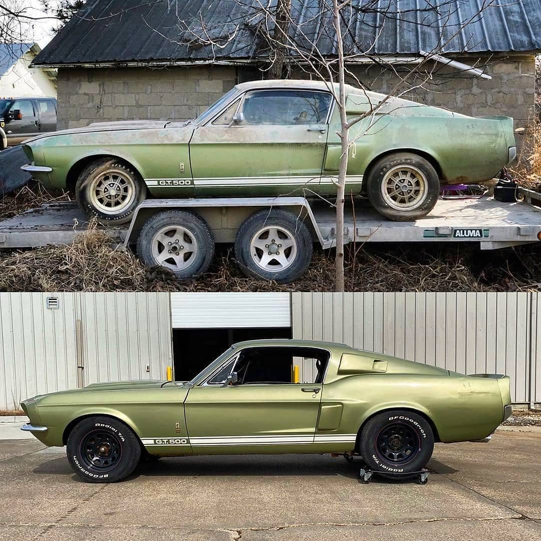 This 1967 Ford Mustang Shelby Gt500 Spent 40 Years In A Barn Now Being Restored Autoevolution