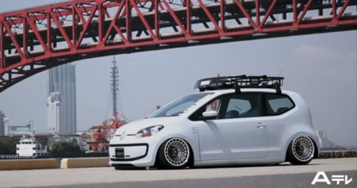 This Bagged Volkswagen Up! Has a Porsche Wheel [Video]