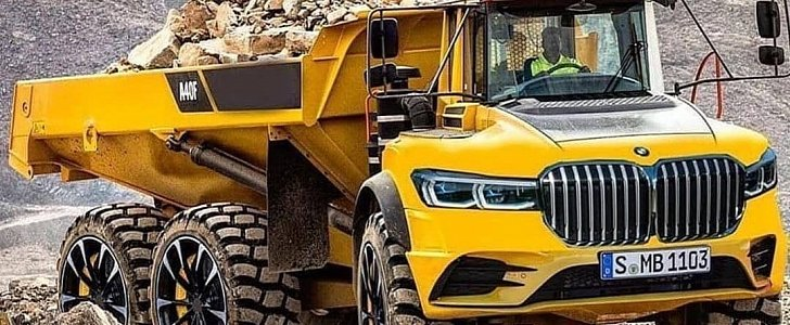 This BMW Articulated Truck Finally Fits The Huge Kidney Grilles - autoevolution