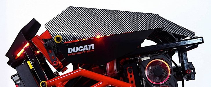 This Ducati Monster Pc Makes For A Gamer S Wet Dream Autoevolution
