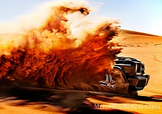 This G 63 AMG is Surfing in The Desert