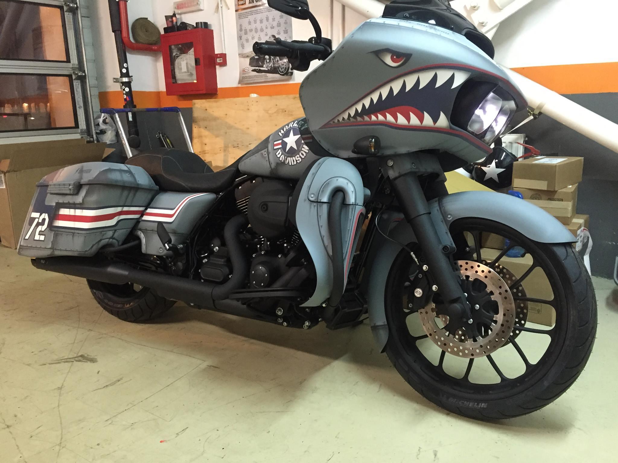 Custom Painted Motorcycle Saddlebags