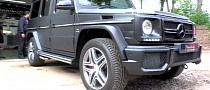 This Is Frank Lampard's G63 AMG, Getting a Sweet Matte Black Wrap [Video]
