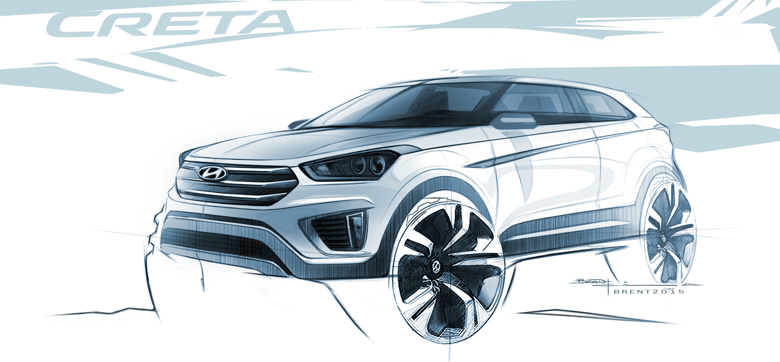 This Is Hyundai S New Creta Baby Suv In Sketch Form Autoevolution