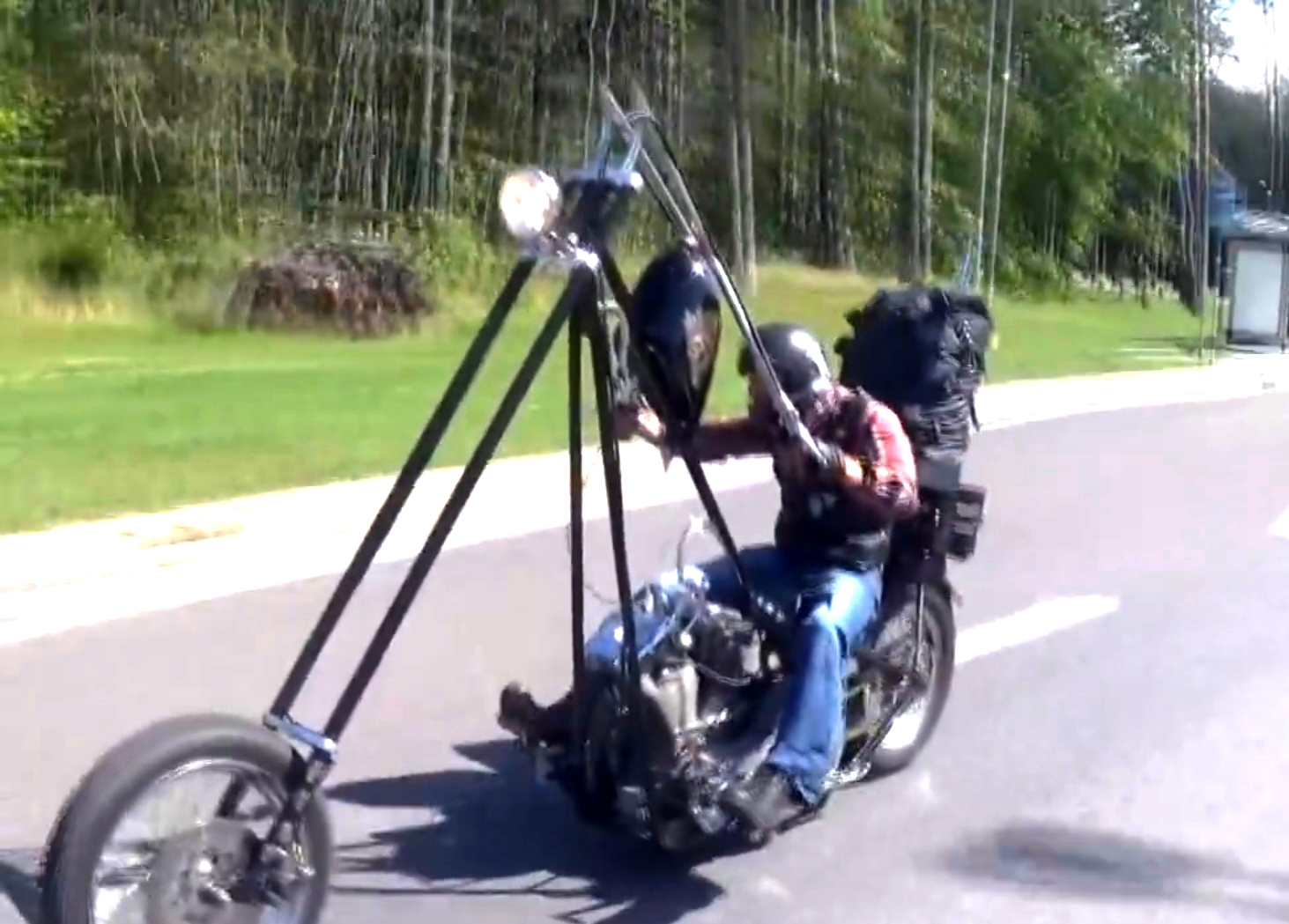 This is the most ridiculous apehanger handlebar to date for Motor cycle handle bars