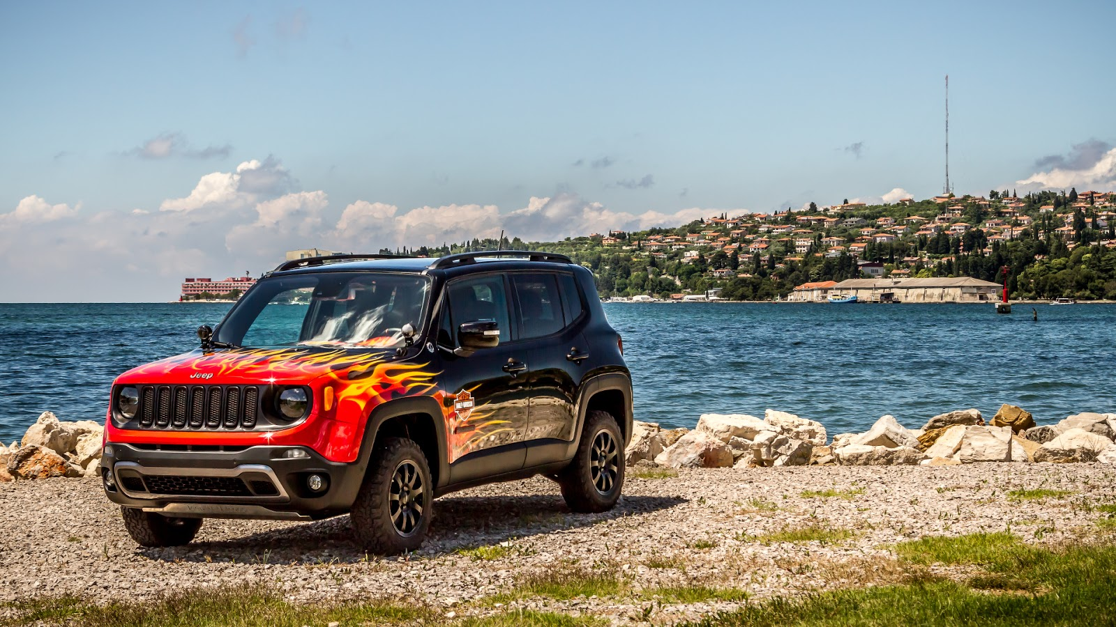 Renegade Race Fuel >> This Jeep Renegade is Flaming Hot, Celebrates 25th European H.O.G. Rally - autoevolution