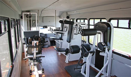 This gym in a bus will keep you healthy wherever you are for Summerville gyms
