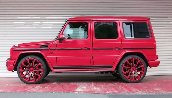 this red g class by office k is all kinds of obnoxious autoevolution - White G Wagon Red Interior
