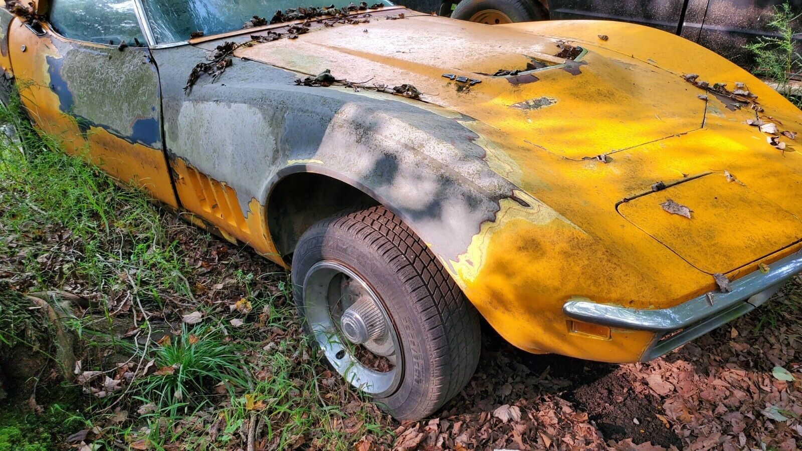 This Rusty 1969 Chevrolet Corvette 427 Parked In The Forest Is Ridiculously Cool Autoevolution