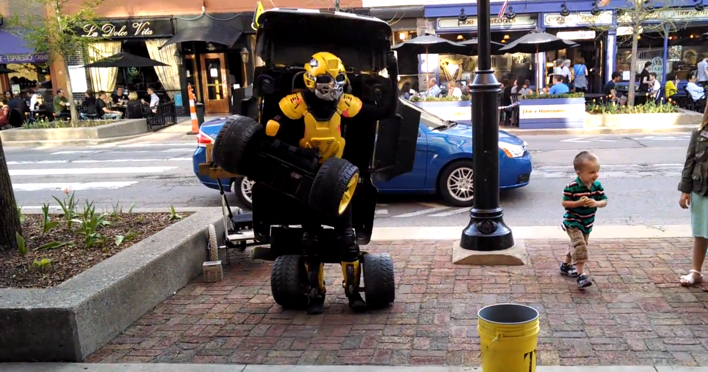 This Transformers Bumblebee Costume Actually Drives