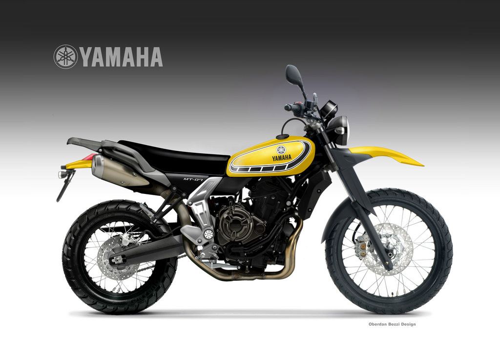 this yamaha mt 07 could give ducati scrambler a run for the money autoevolution. Black Bedroom Furniture Sets. Home Design Ideas