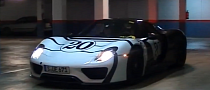 Three Porsche 918 Spyder at a Hotel [Video]