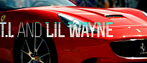 T.I. and Lil Wayne Play With Red and Black Ferrari Twins [Video]