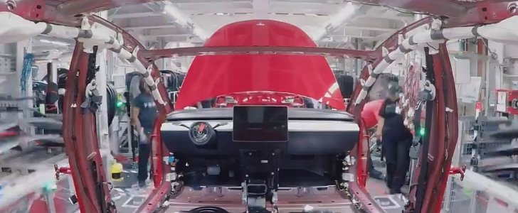 Time Lapse Video Shows Tesla Model 3 Being Built From