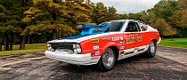 Tiny 1978 Plymouth Arrow Has Big HEMI Pro Stock Engine, Looking for a New Driver