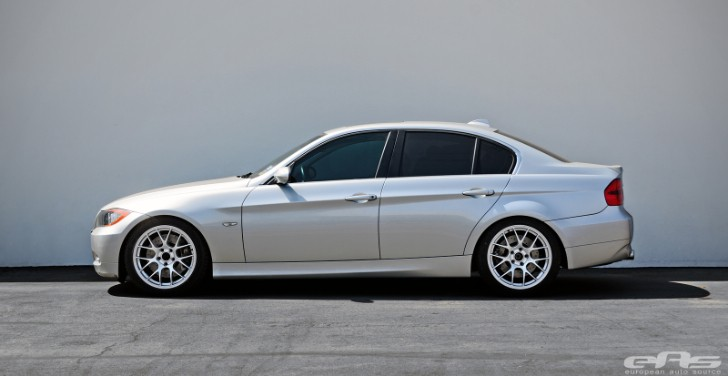 Titanium Silver BMW E90 335i Is Track Ready