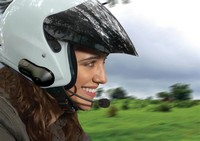 Motorcycle helmet with intercom system