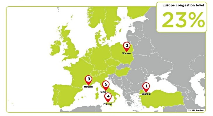TomTom Picks Most Congested Cities in Europe and the US