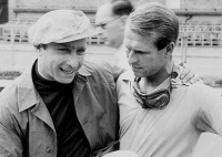 Peter Collins and Juan Manuel Fangio