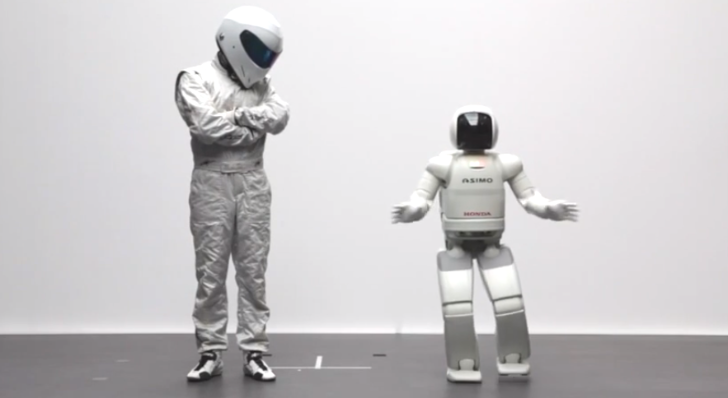 Top Gear Stig Not Impressed by Honda's Asimo Robot [Video]
