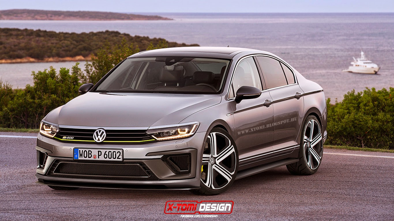 tough looking 2015 volkswagen passat r400 needs to go into production autoevolution. Black Bedroom Furniture Sets. Home Design Ideas