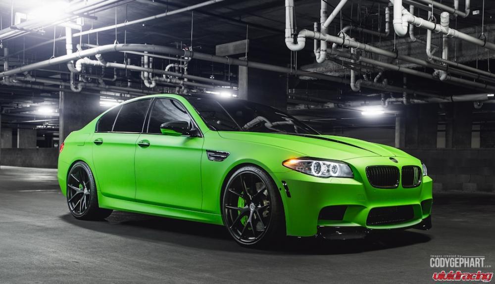 Toxic Green BMW F10 M5 Represents Vivid Racing at 2014 Bimmerfest - autoevolution
