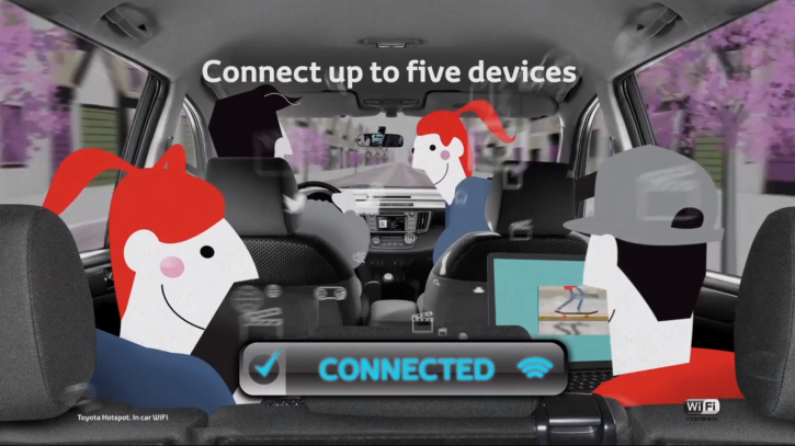 toyota advertises wifi hotspot accessory video. Black Bedroom Furniture Sets. Home Design Ideas