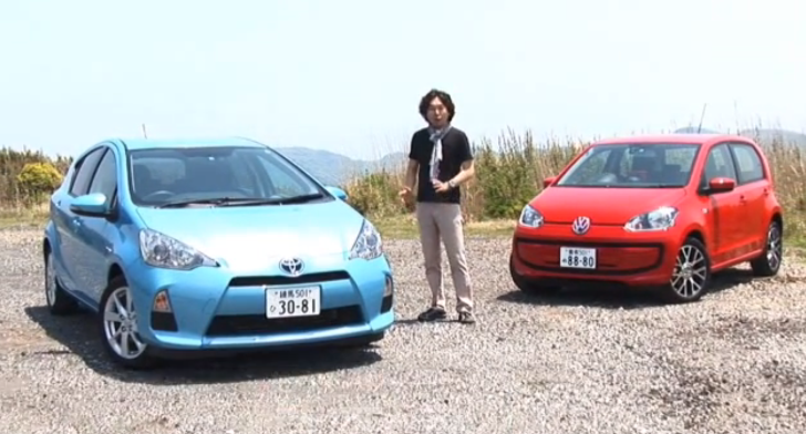 Toyota Aqua (Prius C) vs Volkswagen Up Test by Gazoo TV [Video]
