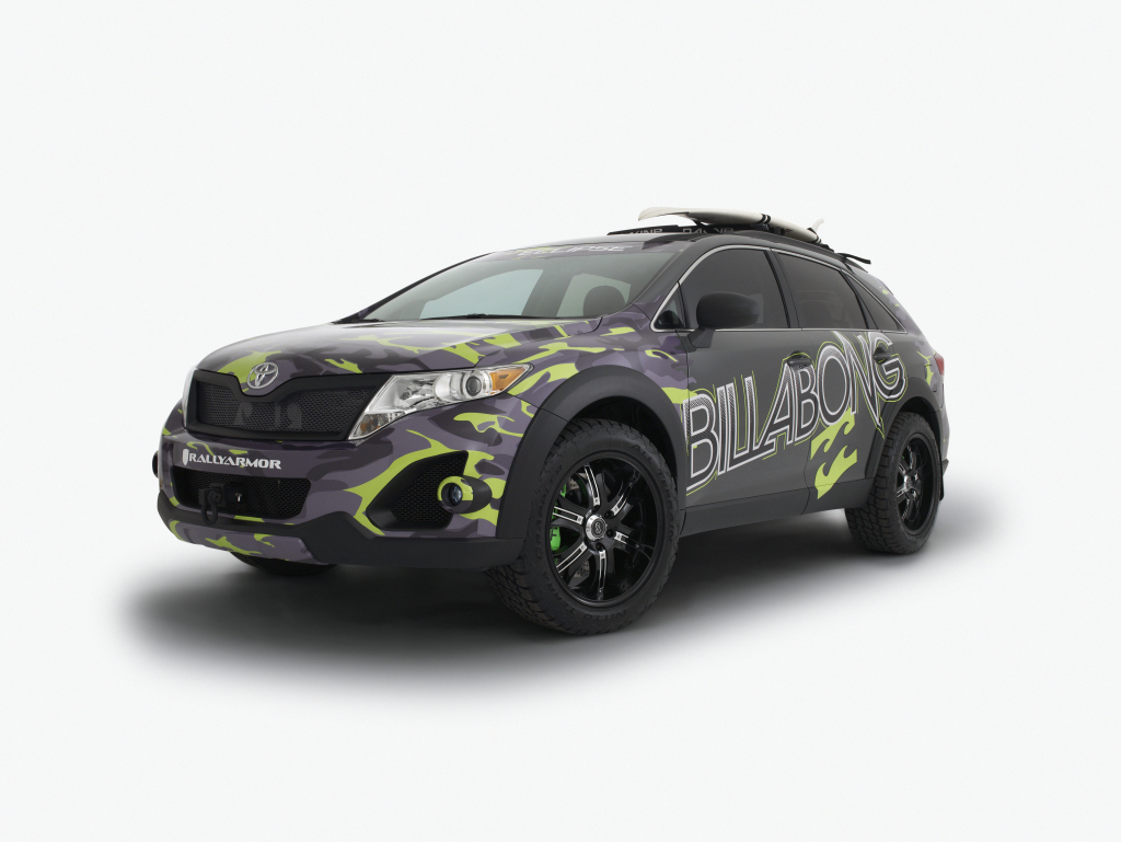 toyota billabong ultimate venza the mean presence at sema. Black Bedroom Furniture Sets. Home Design Ideas