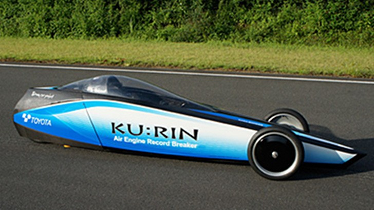 Toyota Breaks Compressed Air Speed Record with Ku:Rin