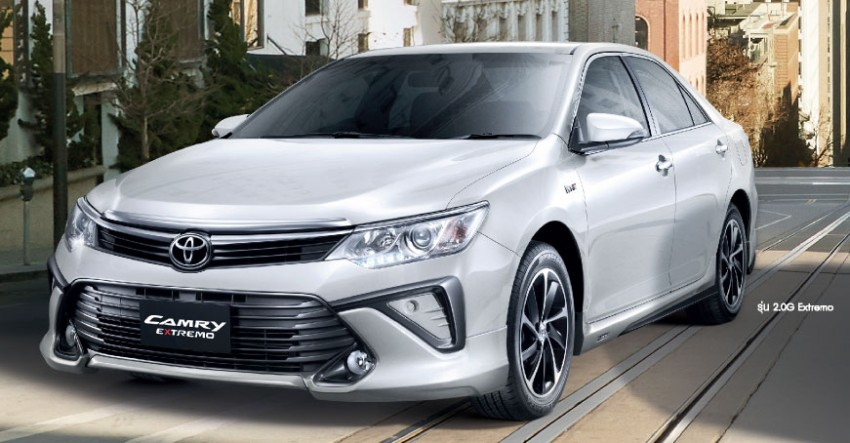 toyota camry extremo facelift debuts at the 2015 bangkok auto show autoevolution. Black Bedroom Furniture Sets. Home Design Ideas