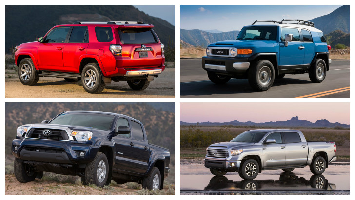 Toyota FJ Cruiser, Tacoma, 4Runner, Tundra in Top Resale Value by AutoGuide