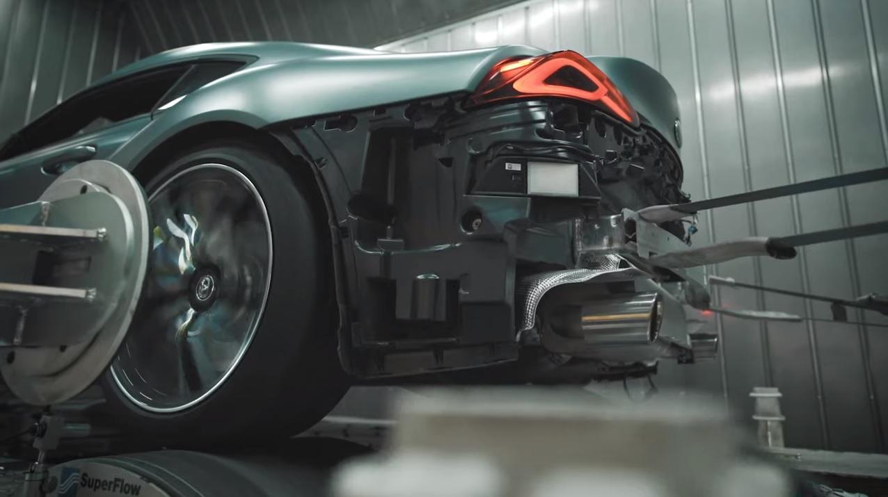 Toyota Gr Supra Slip On Exhaust System From Akrapovic Sounds Pretty