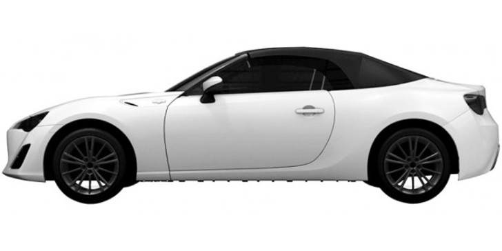 Toyota GT 86 Convertible Roof Emerges in Patent Images
