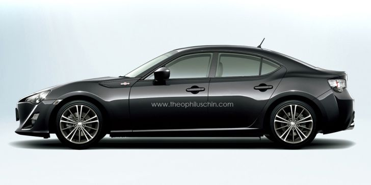 Toyota GT 86 Rendered as Sedan
