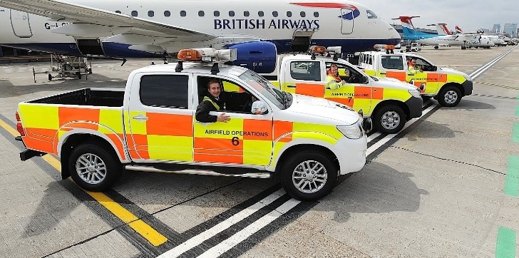 Toyota Hilux Makes the London City Airport Go Round
