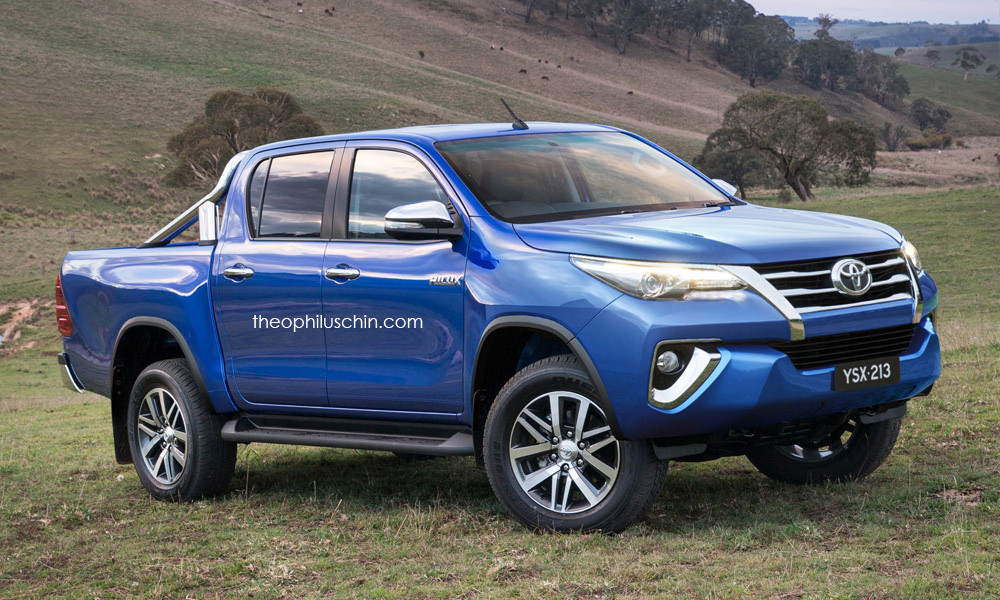 Toyota Hilux Swapping Faces with Toyota Fortuner Totally Makes Sense