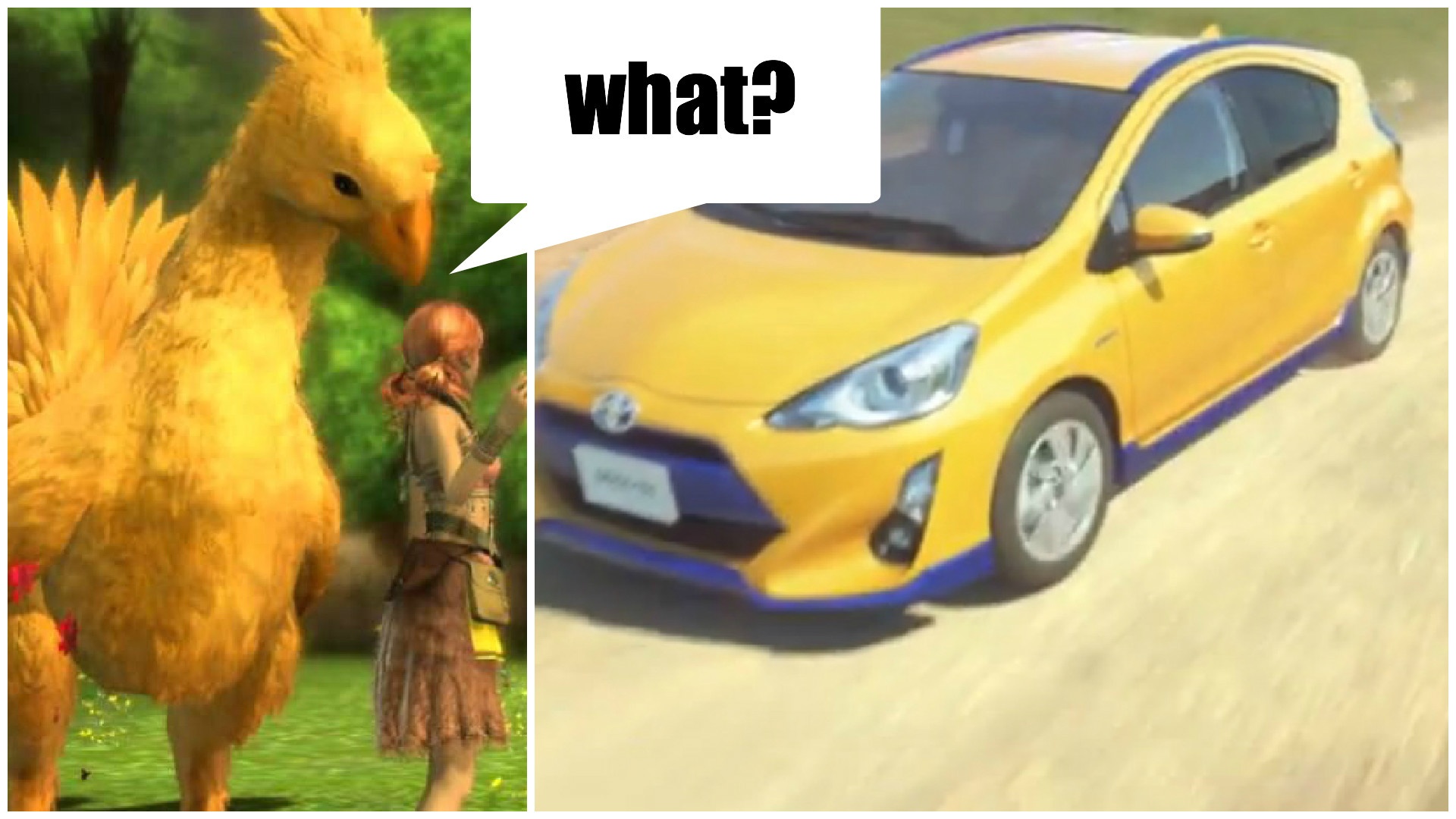 Toyota Thinks Its Car Is the Chocobo from Final Fantasy Borrows