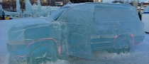 Toyota Land Cruiser Carved From Ice in Russia [Photo Gallery]