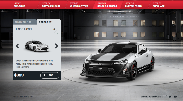 Online Car Customizer >> Toyota New Zealand Got NFS Style Online Customizer ...