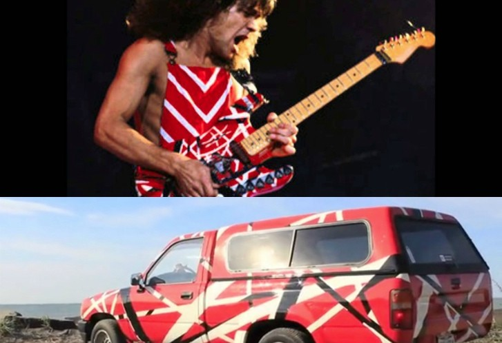 Toyota Owner Loves Van Halen So Much He Painted The Car Like The Guitar Autoevolution