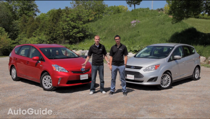 toyota prius v tested against ford c-maxautoguide - autoevolution