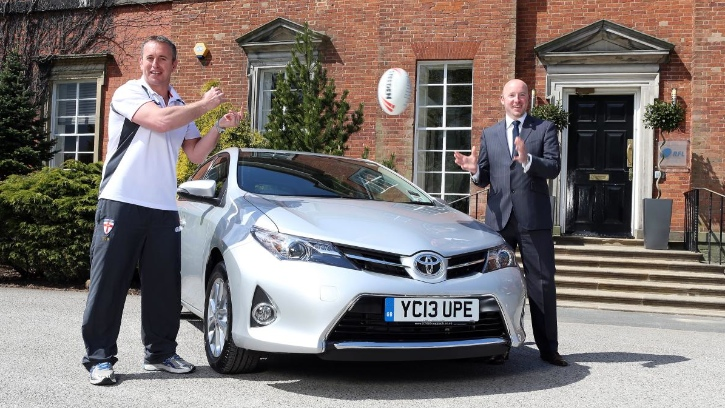 Toyota Provides Fleet for Rugby Football League