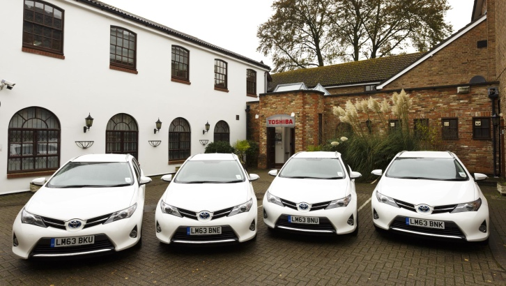 Toyota Providing Hybrid Fleet Cars for Toshiba Tec UK