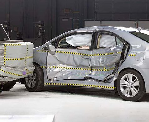 Lexus Hs 250h After Iihs Side Impact Test