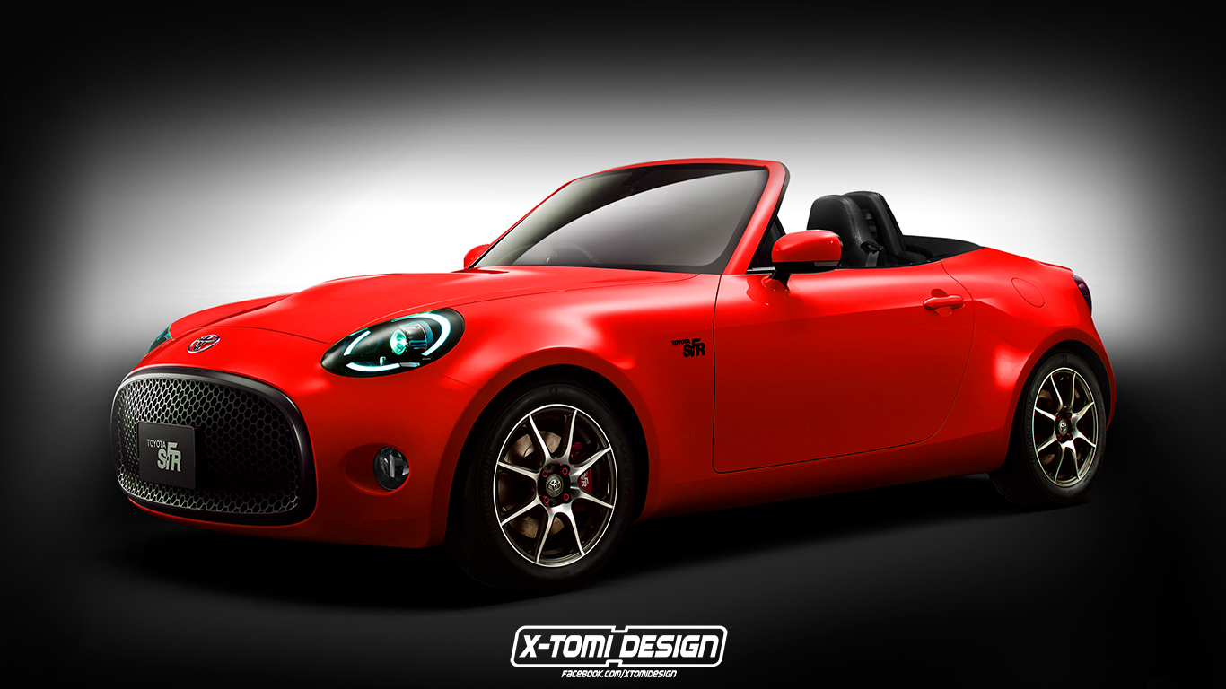 toyota s fr roadster rendering looks like an mx 5 miata. Black Bedroom Furniture Sets. Home Design Ideas