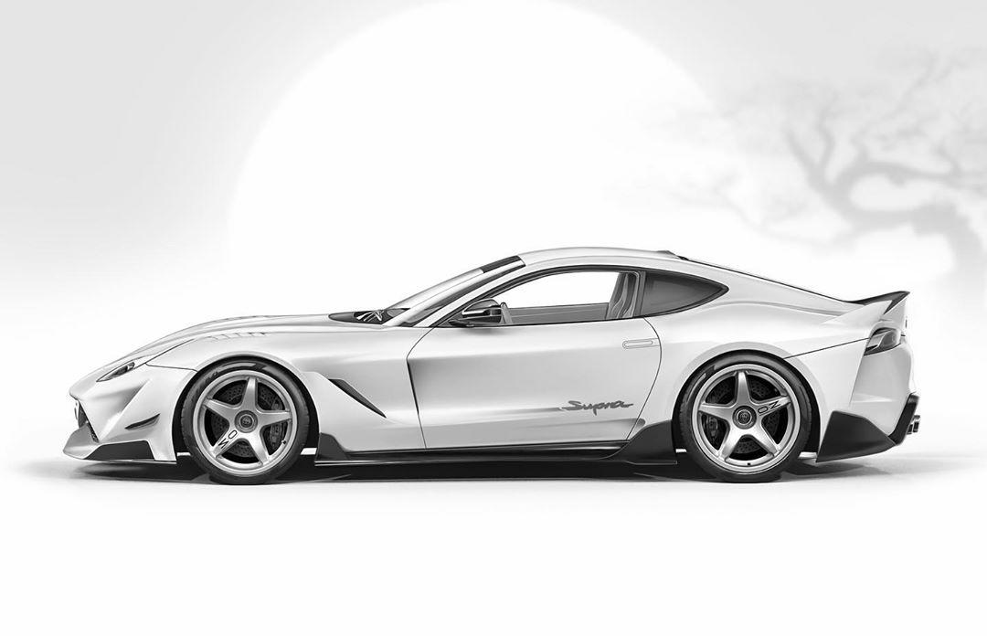 Update Toyota Supra Supercar Rendering Shows Ferrari Gt Design Autoevolution