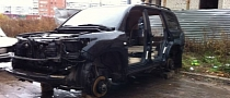 Toyota SUV Dismantled in Bad Russian Neighborhood