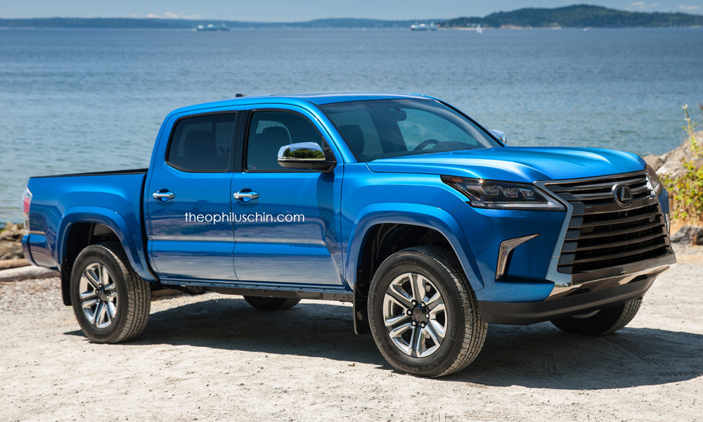 Toyota Tacoma Pickup Truck Wearing Lexus LX's Face Makes ...